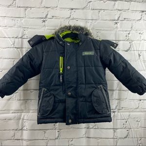 Oshkosh Bigosh 2T winter coat with faux fur hood